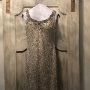 Bronze w/ pewter beading. Mother of Groom gown